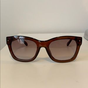 Kate Spade brown rounded square sunglasses
